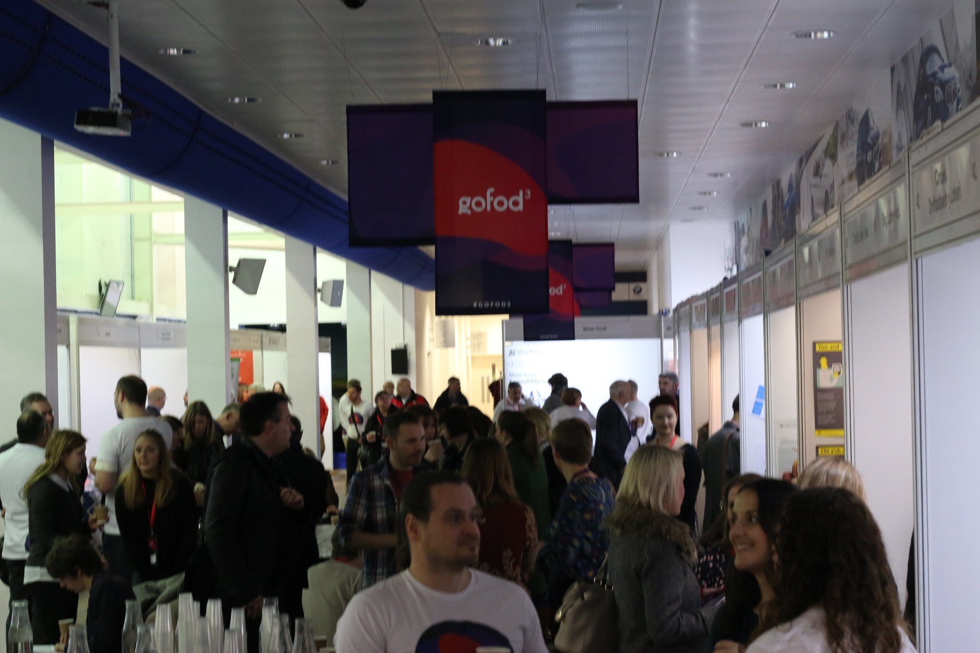 First sessions about to start. Exhibitors section is busy! #gofod3 https://t.co/L2Qt3x4hai