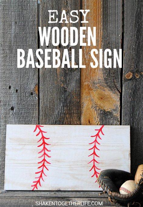 Easy Wooden Baseball Sign