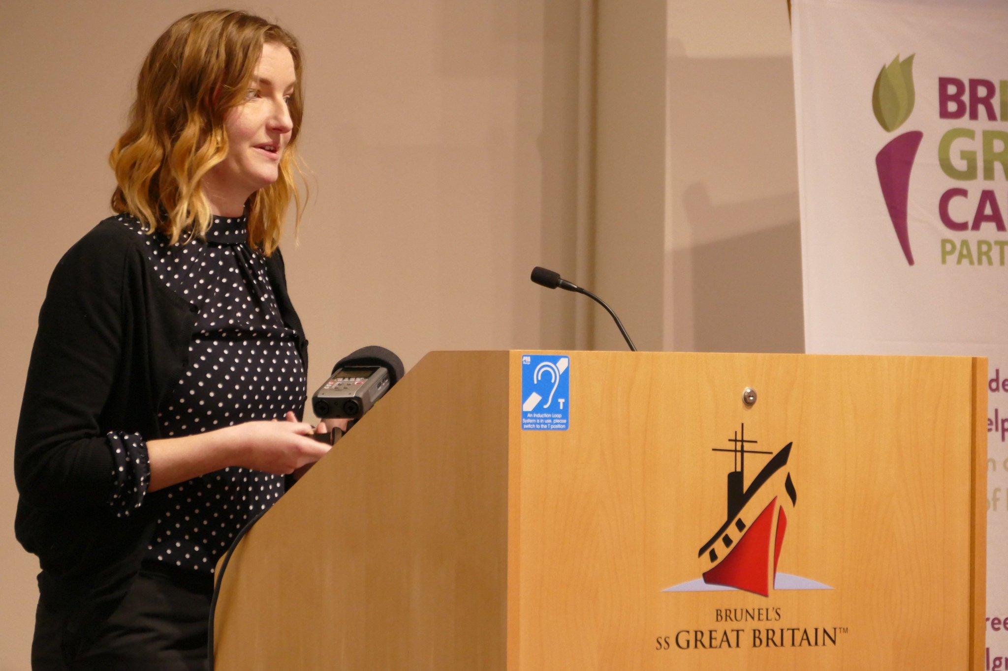Shelly Dewhurst @WoENP presenting on restoration of natural environment across West of England through #green #infrastructure #BGCPGathering https://t.co/j0mTivJduT