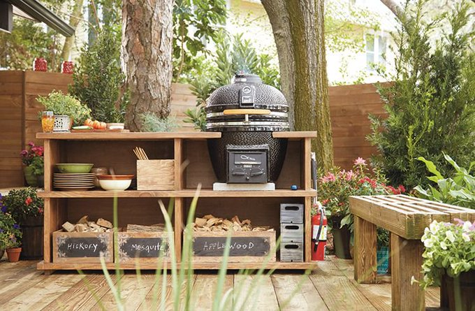 Build this Outdoor Grill Station