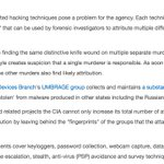 CIA steals other groups virus and malware facilitating false flag attacks #Vault7 https://t.co/K7wFTdlC82