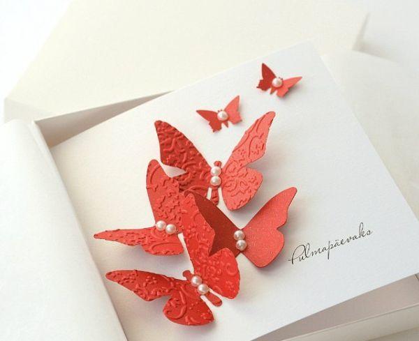 Животиках, открытка бабочка на цветке своими руками