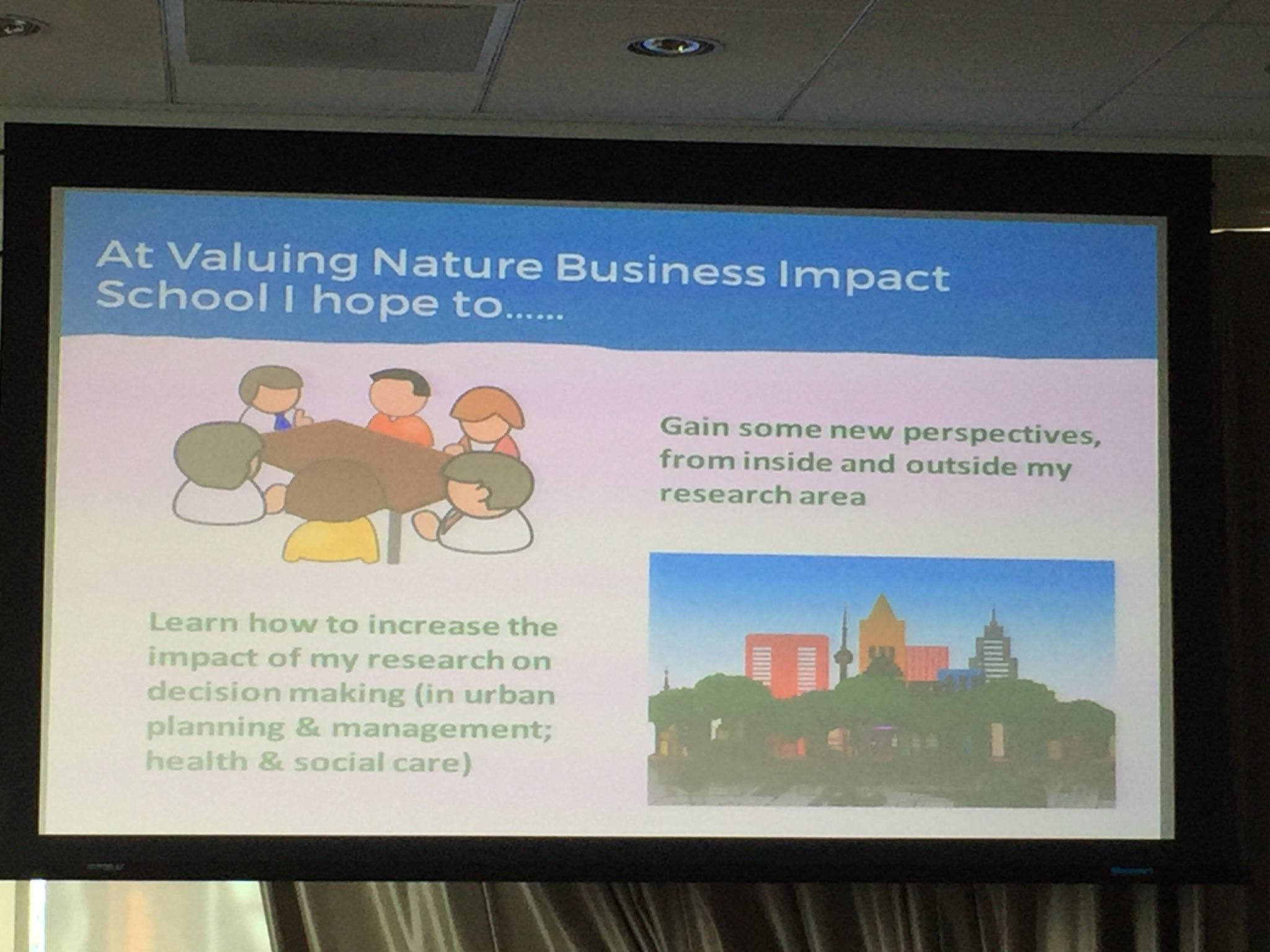 Why attend the Valuing Nature Business Impact School? @YvonneBlack76 tells us why.... #VNBIS17 https://t.co/js1Zf6Bydh