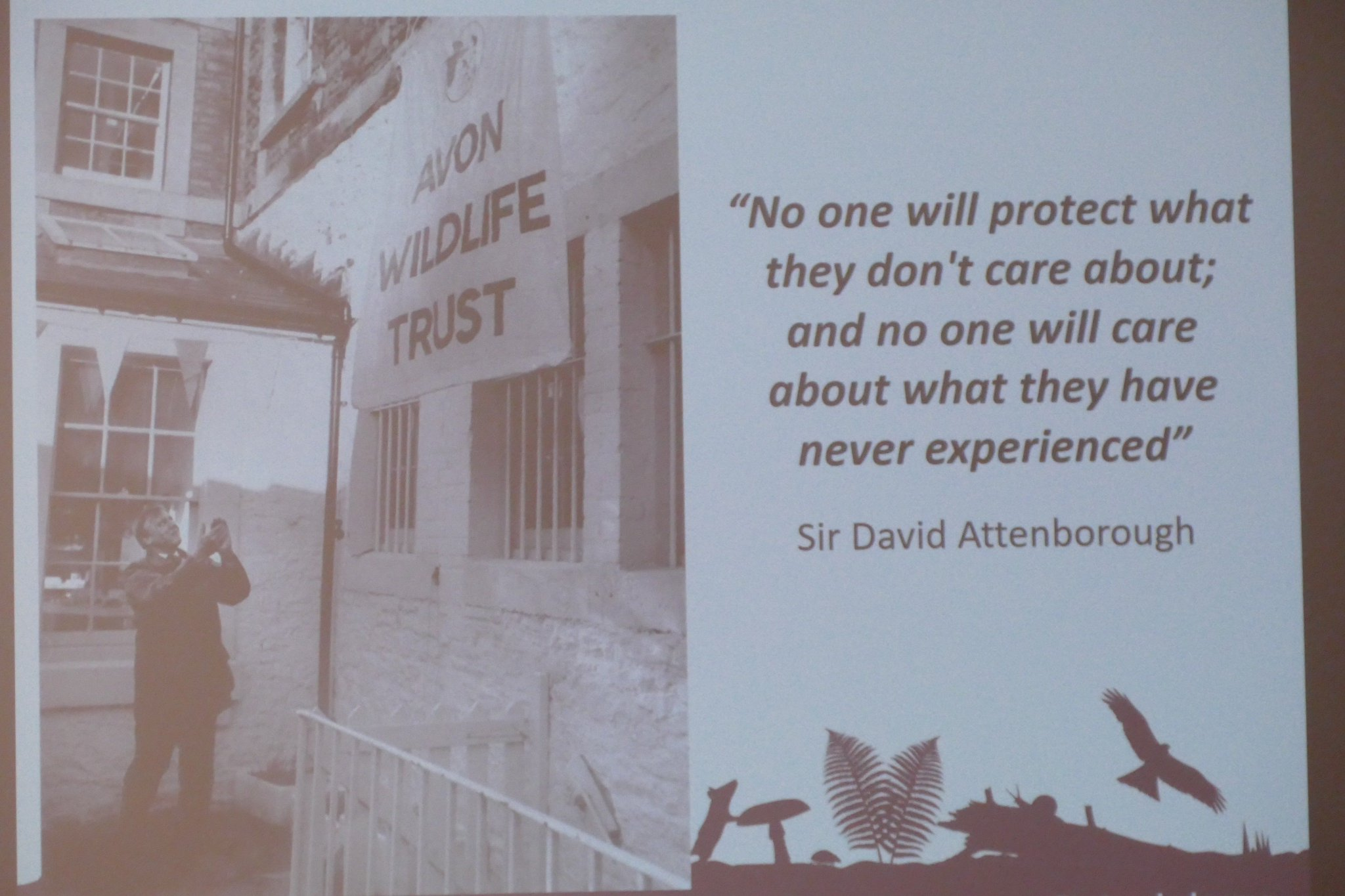 Great quote from Attenborough given by @IanBarrettSW at #NatureinDanger gathering. #Bristol #wildlife #nature https://t.co/28C5l4wzMa