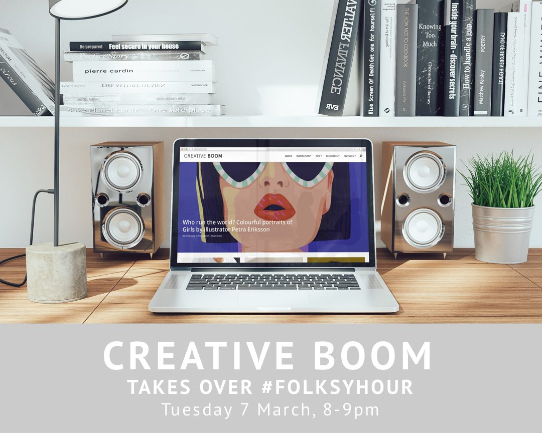 Want to get your work featured on blogs but not sure how? Join @creativeboommag for a #folksyhour special from 8-9pm! https://t.co/OWV0XFnwym