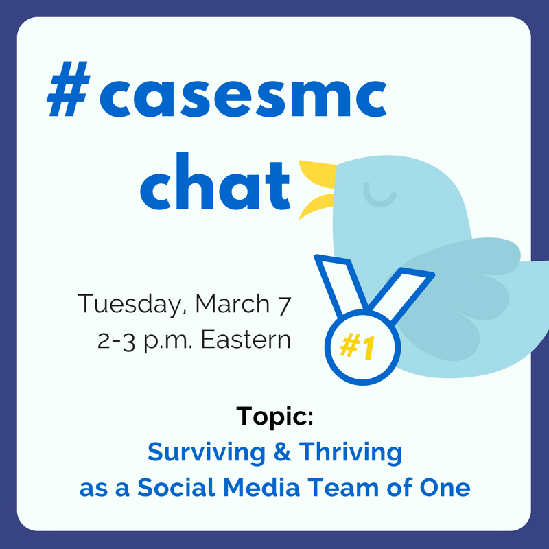 Today's #casesmc (our last chat before the conference in LA!) kicks off in 10 minutes. See you soon, folks. #hesm #alumchat #fundchat https://t.co/IsvXCMDKhg