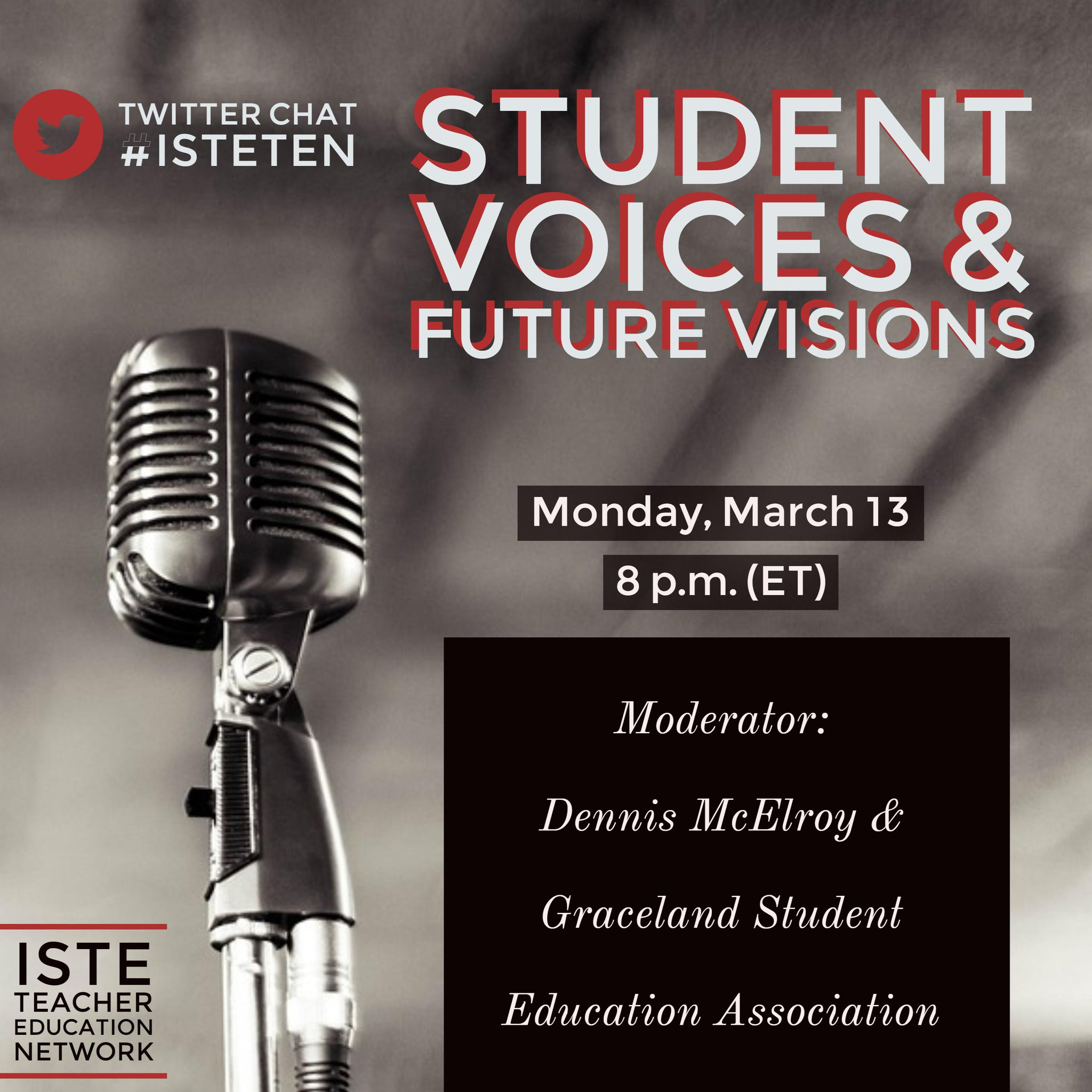 Join us in 5 minutes for the #isteten chat all about #stuvoice https://t.co/qYWSPicys0