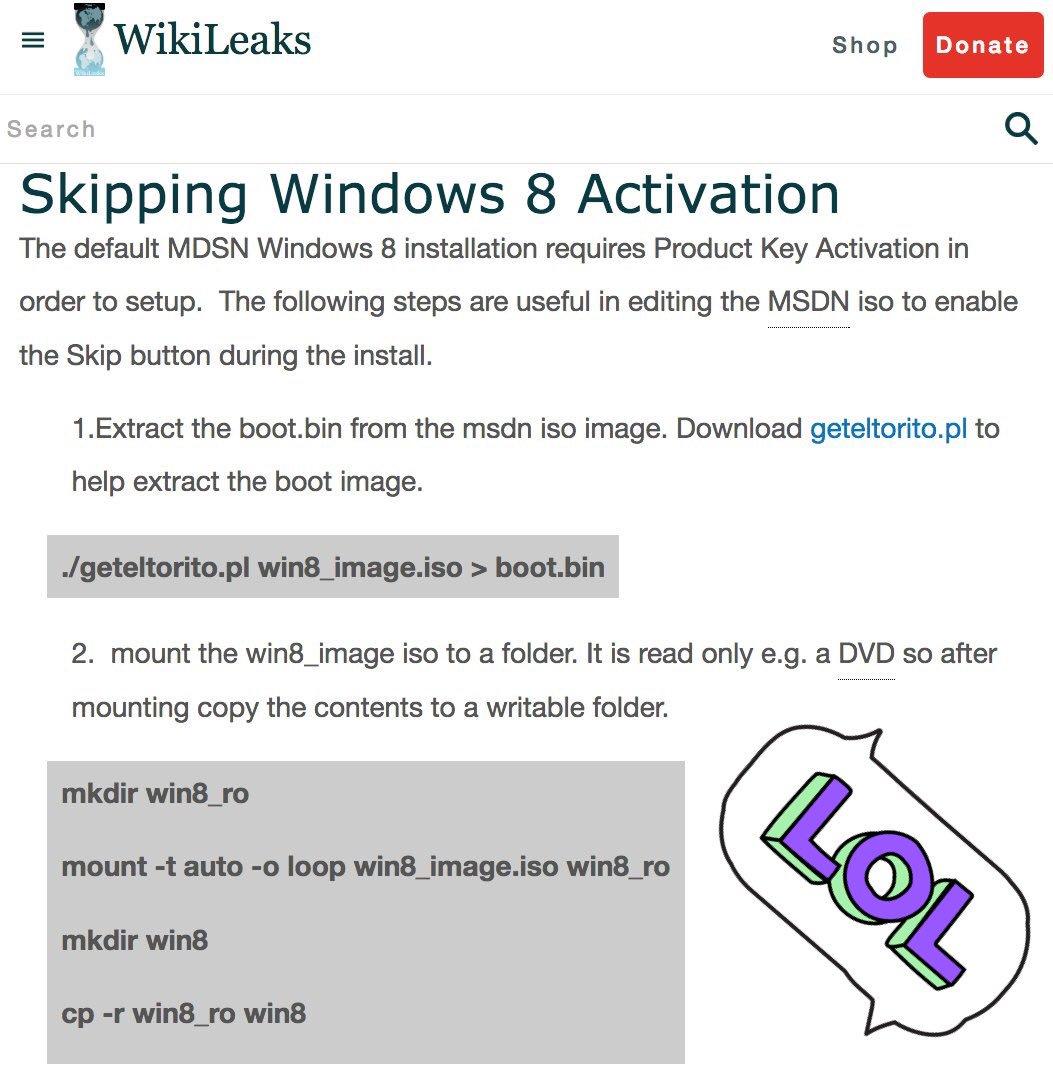 Skip Win8 verification