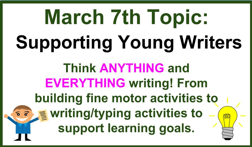 Today's #gafe4littles topic is supporting young writers. There are no limitations to the term writing, think ANYTHING & EVERYTHING writing https://t.co/jyyshdhb5s