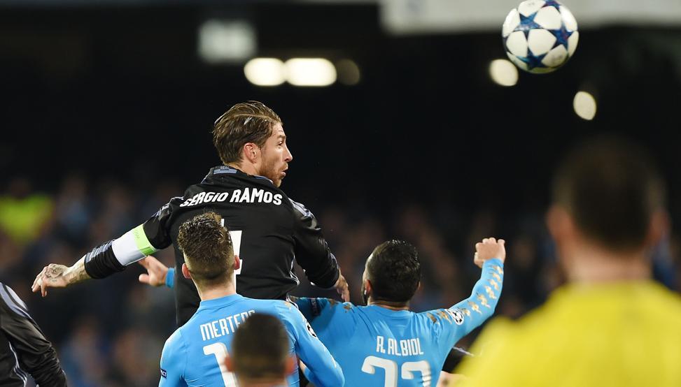 Napoli Real Madrid 1-3 (2-6): Sergio Ramos e Morata regalano i quarti ai Blancos