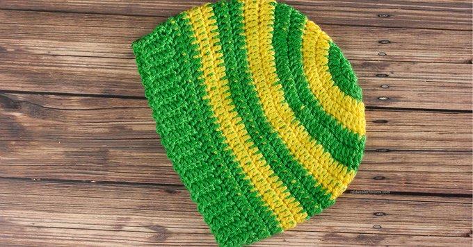 Stripe Crochet Beanie Hat Pattern