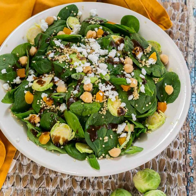 Vegetarian Spinach Power Salad