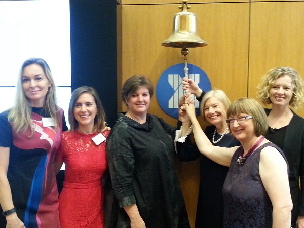 Celebrating #IWD2017 day with the global @WomeninETFs bell ringing. #genderbell https://t.co/SaX8wCa9NA