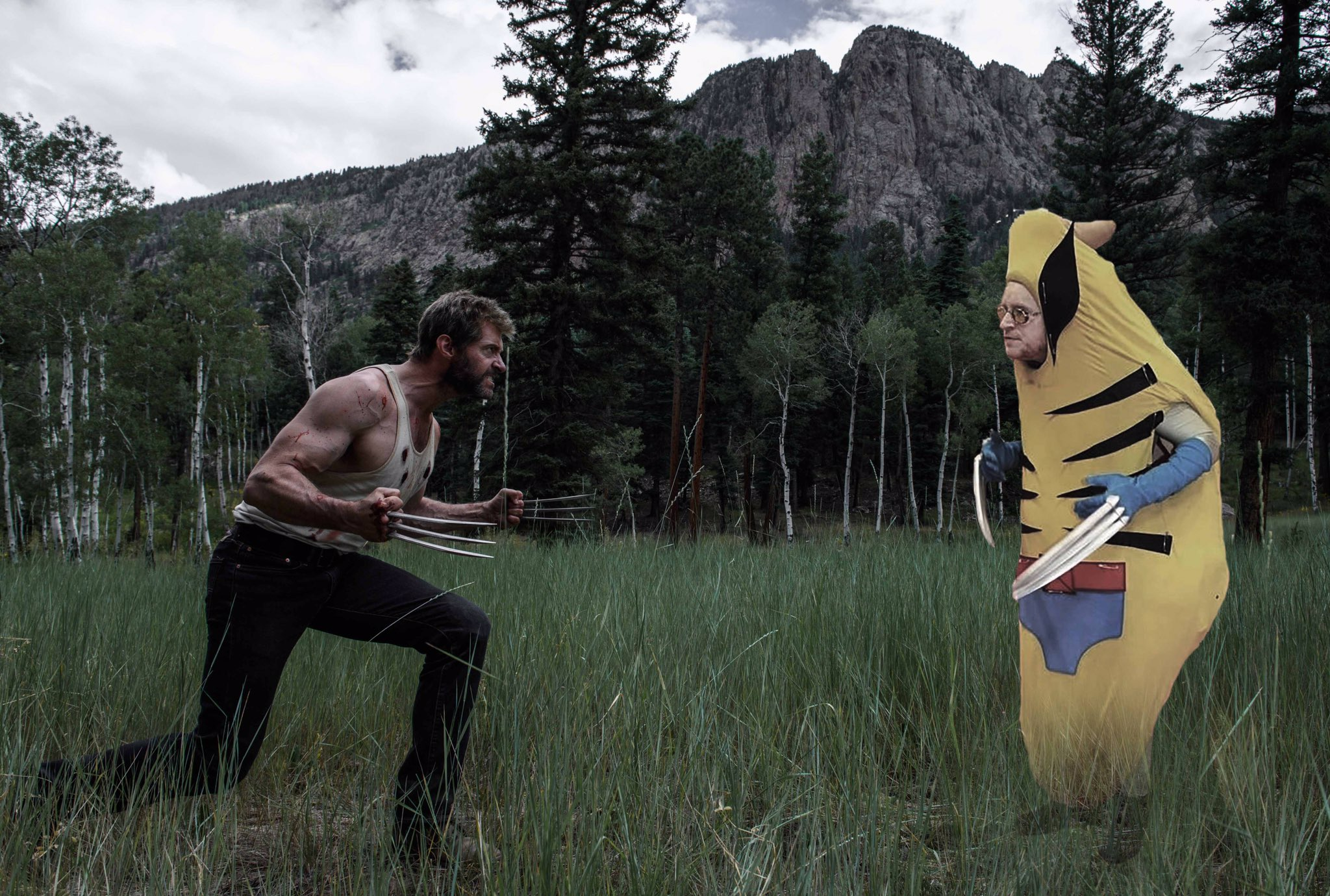 Fight scene with the one and only! #BananaWolverine @WolverineMovie @20thcenturyfox https://t.co/7EfuUmV29u