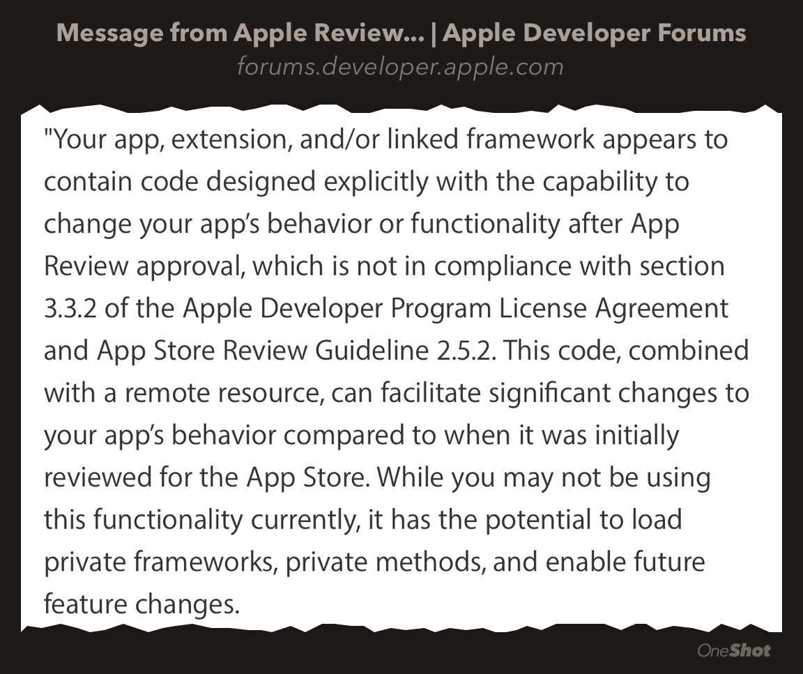 Apple now rejects apps that use Rollout.io. Please don't act surprised. https://t.co/Nsio7DepOm https://t.co/QTaXn6zkeQ