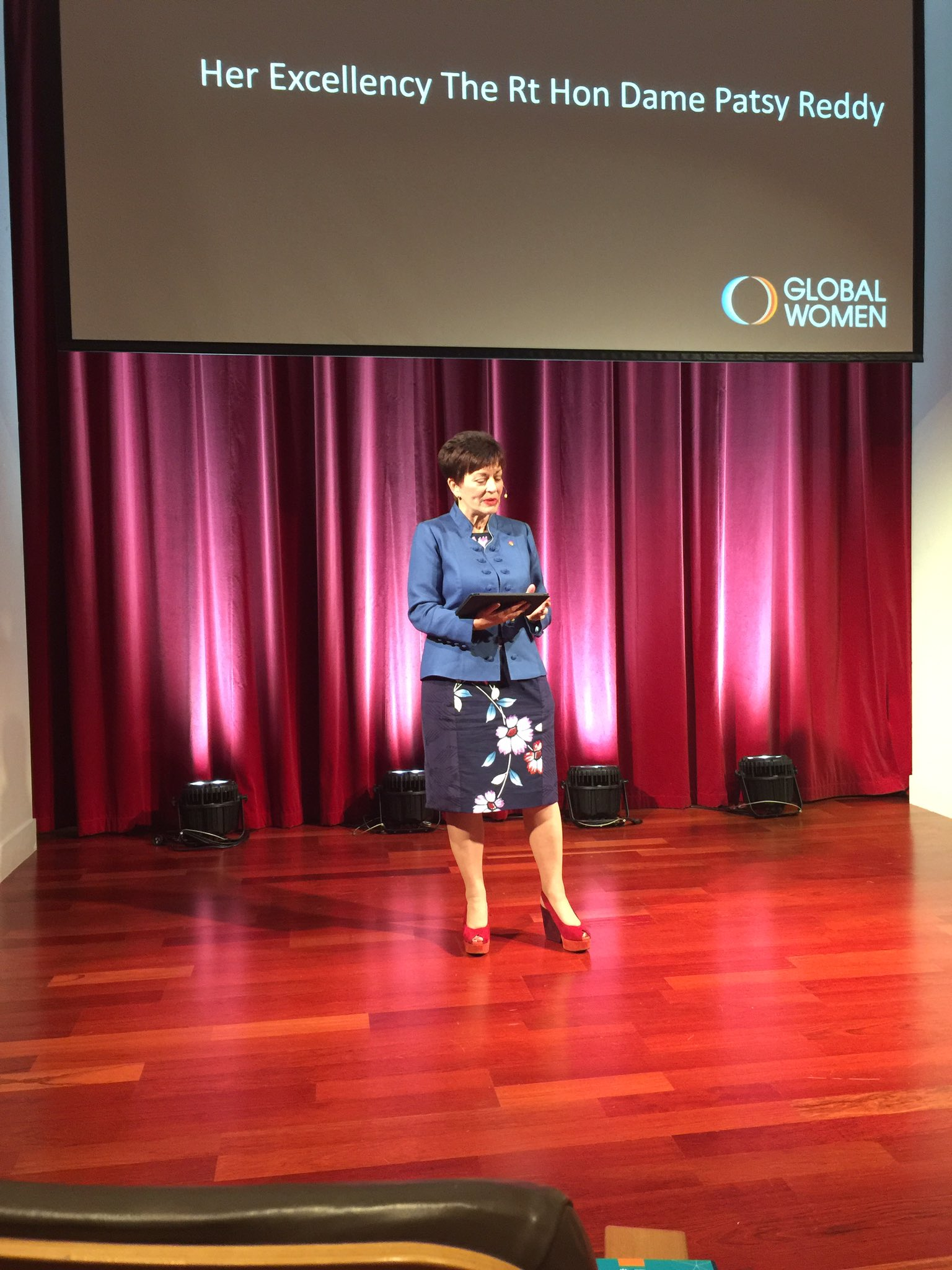 First up, is Dame Patsy Reddy, #gwmember, business legend and NZ's Governor General @GovGeneralNZ #BeBoldForChange https://t.co/vdRCcGDWk9