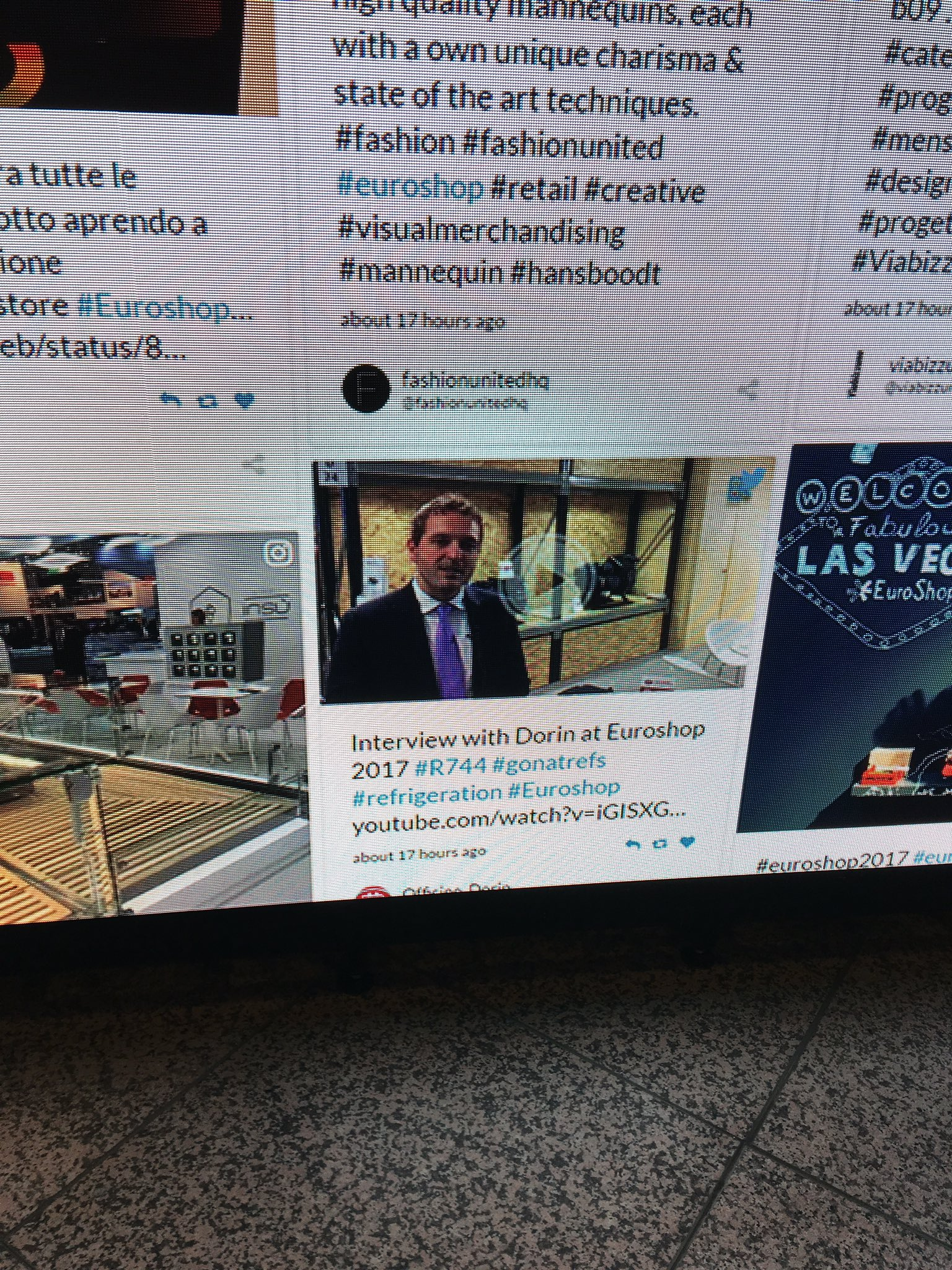 https://t.co/IEEUUZEVEw interview with Dorin going viral on official Twitter wall at #euroshop2017 https://t.co/Y3lYdERhdG