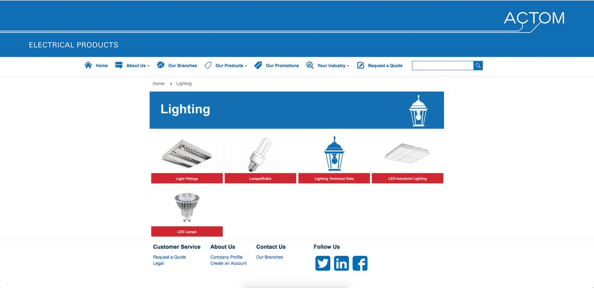 Visit the ACTOM Electrical Products Page, https://t.co/ZGBCDKZRSO to view the new easier to use design #ACTOM #Lighting #Electrical #LED https://t.co/gIOL1q90qw