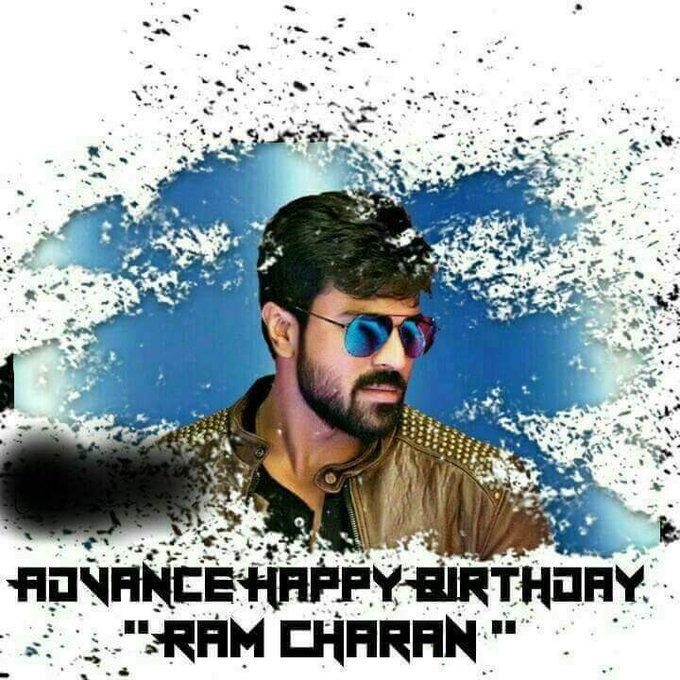 Advance happy Birthday Ram charan anna......