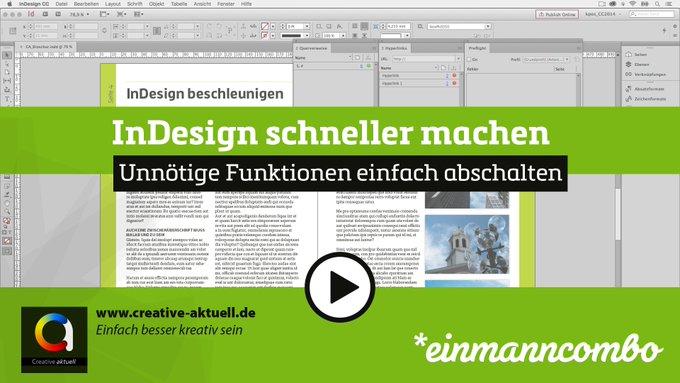 Wie Du Adobe InDesign beschleunigen kannst