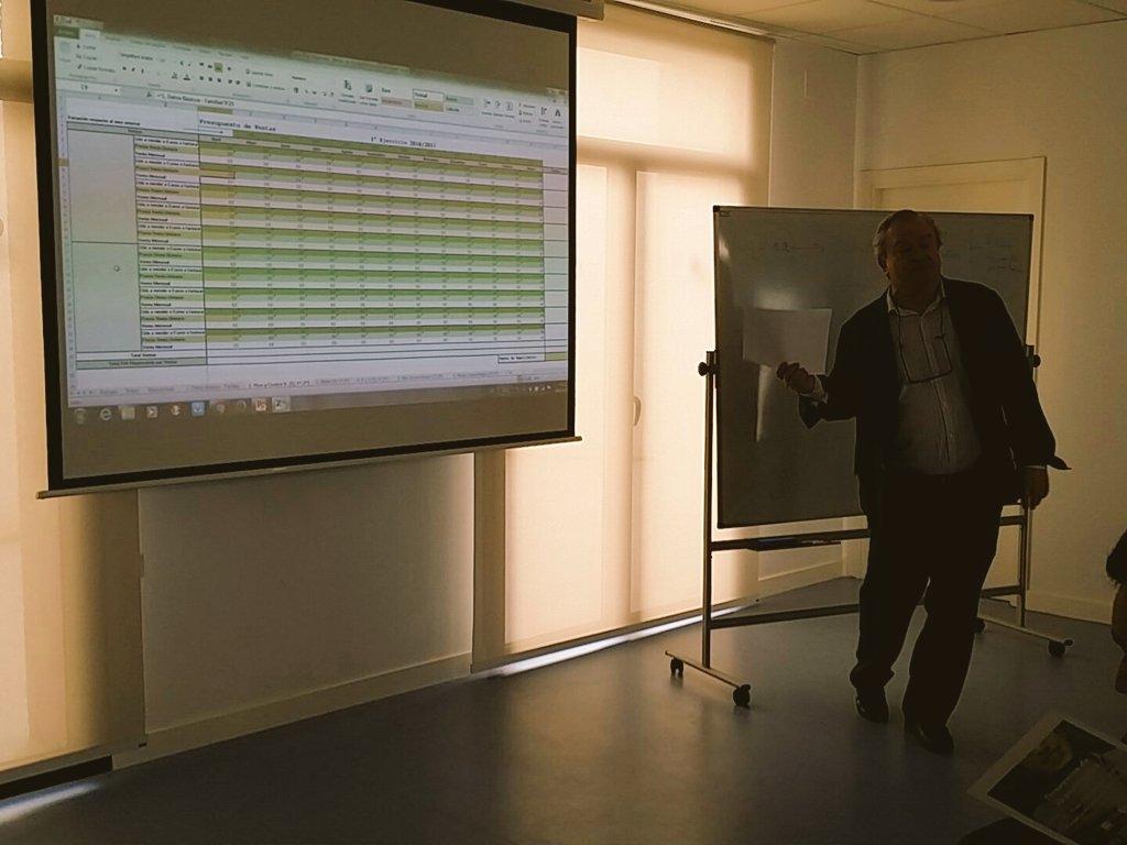 Trabajo doble: cumplimentar la hoja de cálculo e interpretar los resultados #DesayunoFinanciero en @AytoMadridejos gracias a @Angel6arcia https://t.co/iurcoAKa0k