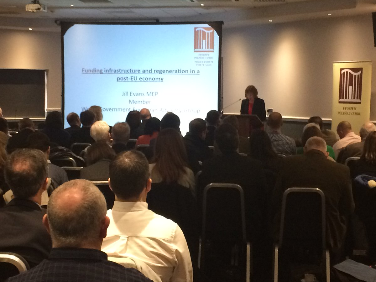 Jill Evans MEP talking about  funding infrastructure & regeneration in a post-EU economy @WelshGovernment #localgov
