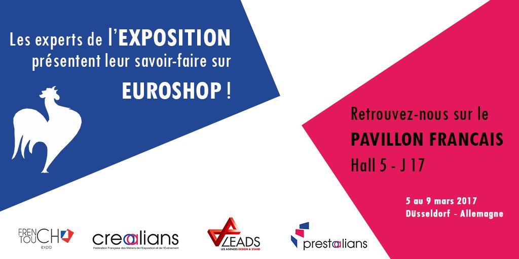 Pour la première fois sur le salon #EUROSHOP2017, les professionnels français de l'#exposition sous un seul Pavillon ! #stand #eventprofs https://t.co/sclmQ2cF1W