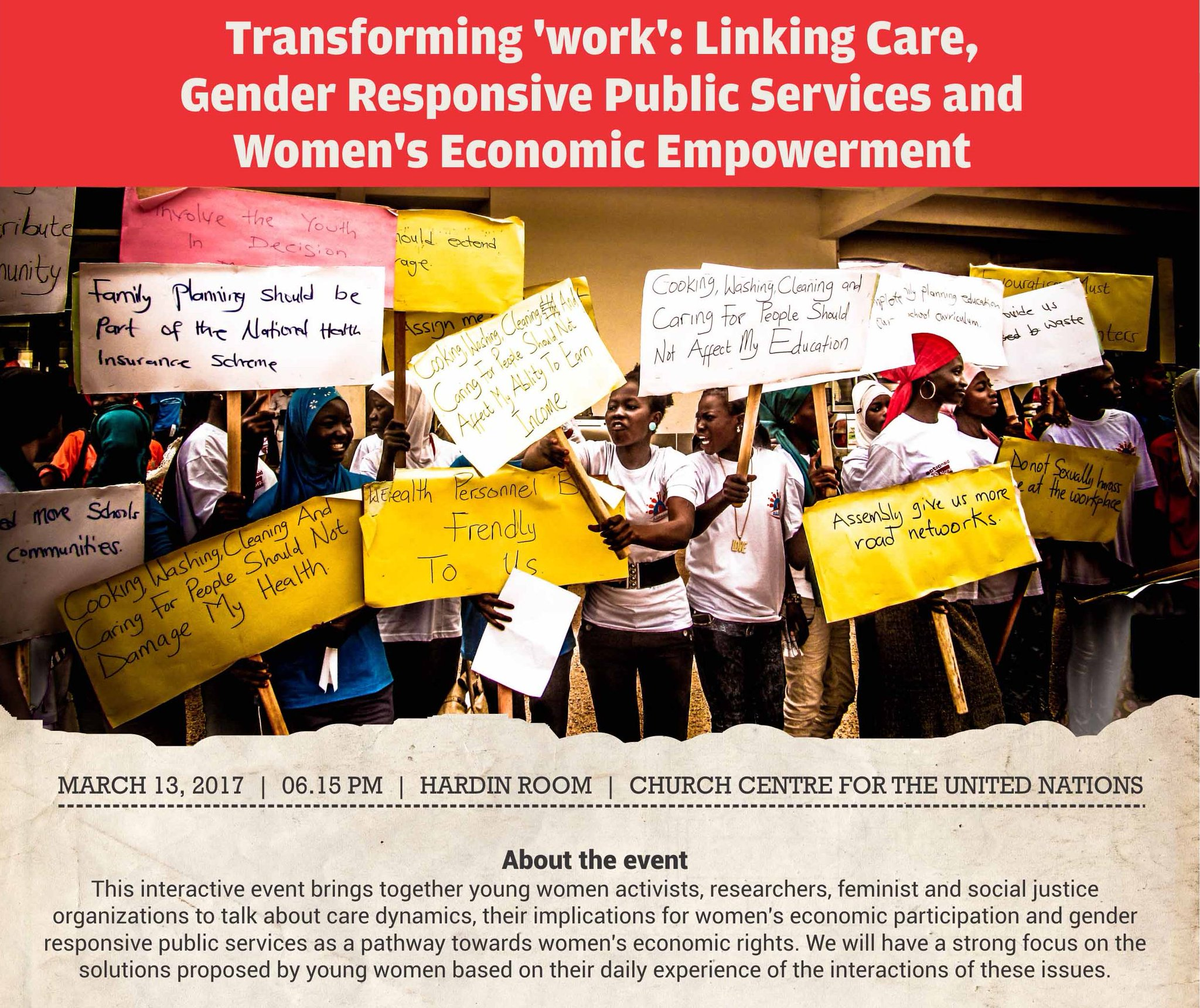 Join @IDRC_CRDI @GrOW4Women @IDS_UK in #CSW_UN panels March 13 &17 on care & #women's empowerment. Let's make #IWD2017 a daily reality https://t.co/UQehO6VPdn