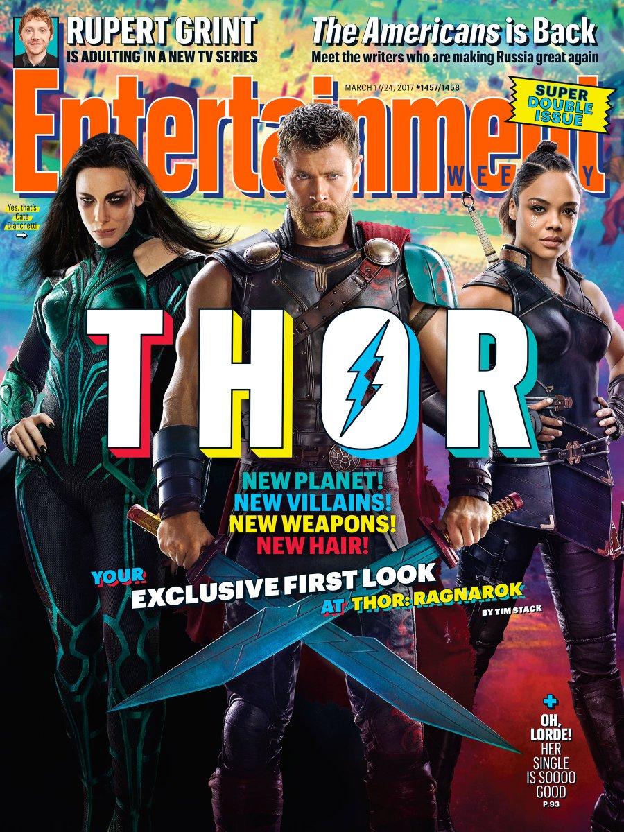 Thor Ragnarok na capa da EW