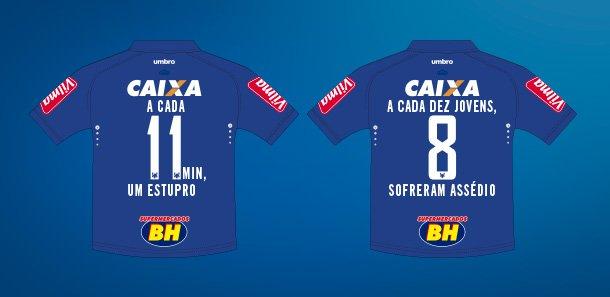 Cruzeiro cederá espaço na camisa para expor realidade das mulheres.   https://t.co/X9svrVTM6o  #VamosMudarOsNúmeros