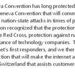 Microsoft calls for a Digital Geneva Convention #CIA #Vault7 https://t.co/hgDc2pihGv