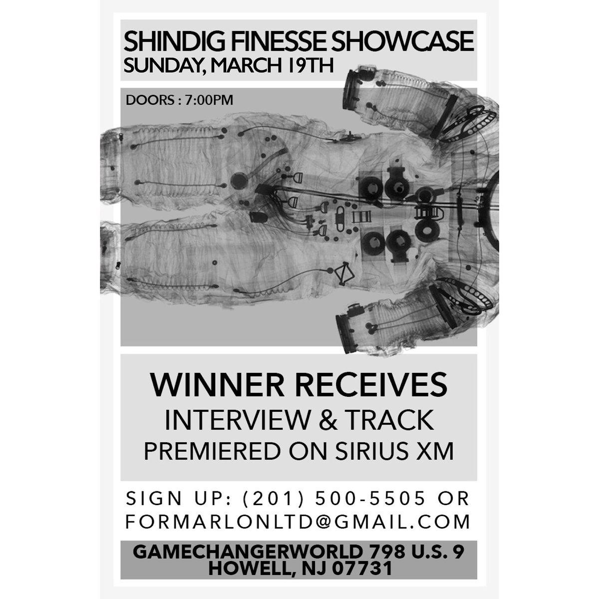 "... Finess showcase comes to #GameChangerWorld Sunday 3-9 Winner receive interview/Track on Sirius Xm!! Contact 201-500-5505 https://t.co/k5JmOsRliq"""