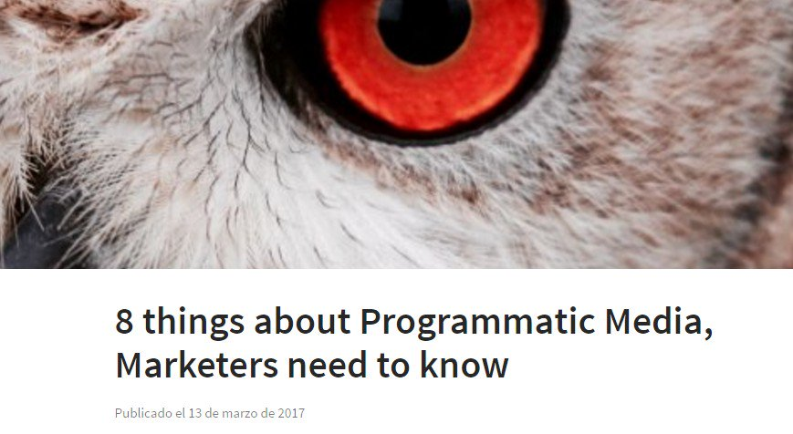 8 things about Programmatic Media, Marketers need to know. vía @LinkedIn  https://t.co/GQQ8ugi0If https://t.co/yWLgshrh1w
