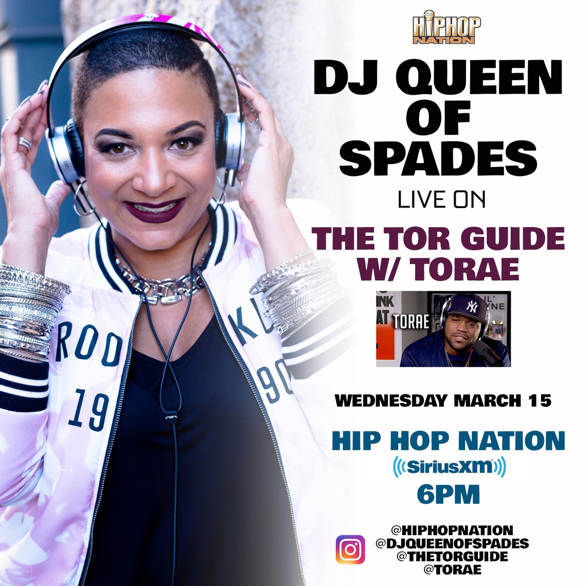 Lock it in today at 6pm to @HipHopNation SiriusXM 44, as I take over for the #WCW mix on The Tor Guide w/ @Torae! https://t.co/GSMIYgL64a