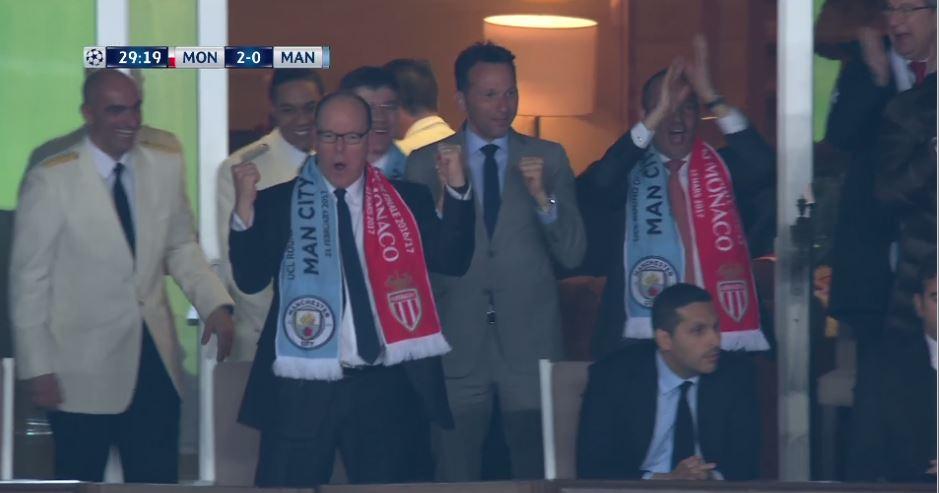 هدف موناكو الثاني في شباك مانشستر سيتي