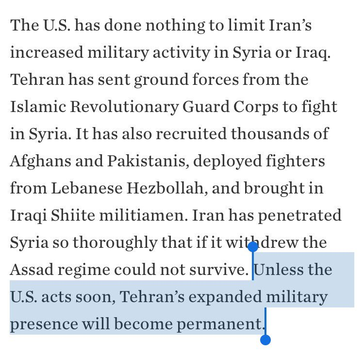 To anyone who thinks they know how to get Iran's hooks out of the Syrian regime/state – across institutions, at all levels – best of luck. https://t.co/50J0u6RsFi