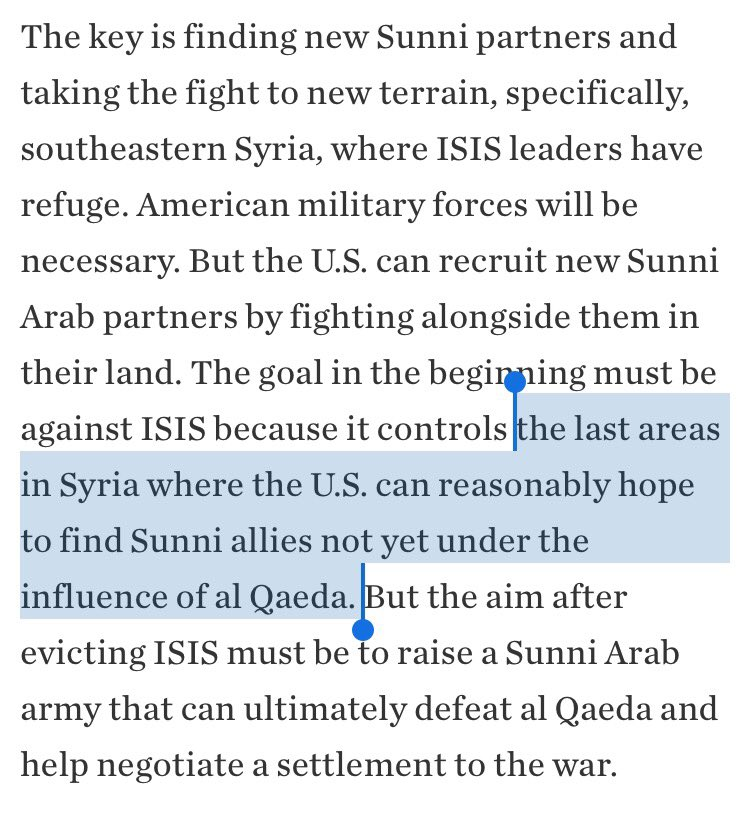 b) If you want areas with relatively less jihadist hegemony, there's Dara'a and Euphrates Shield, but each has its own limitations. https://t.co/nJfswHLEiG