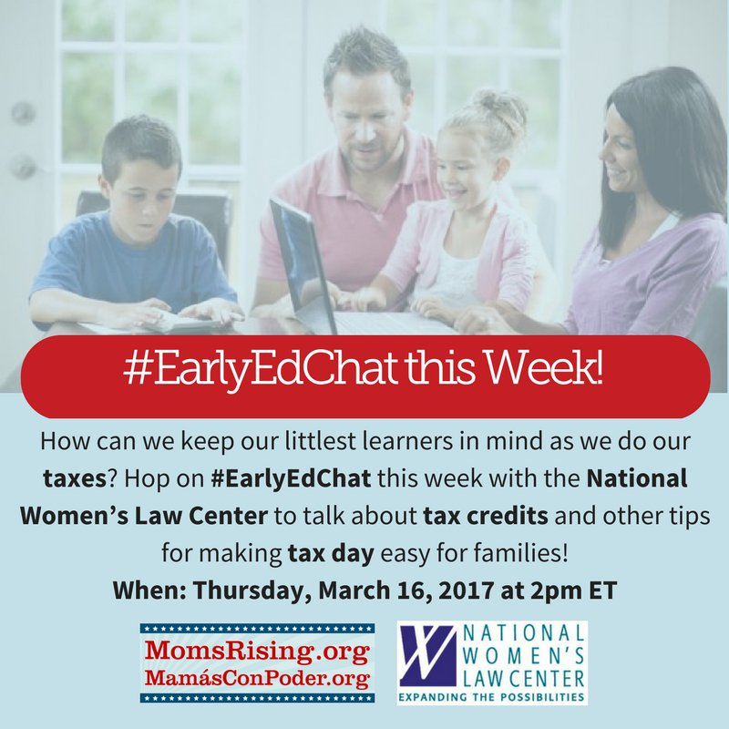 Thumbnail for #EarlyEdChat March 16, 2017 with NWLC & MomsRising