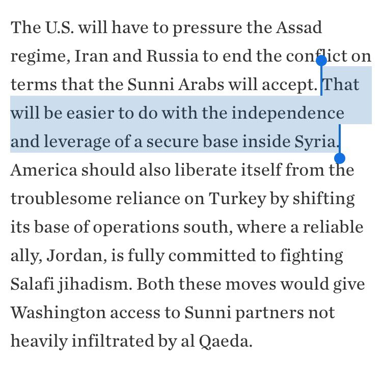 """Um, I guess occupying Deir could provide the U.S. with """"independence and leverage."""" Or it could mean being surrounded on all sides by... https://t.co/wbpFdujHfR"""