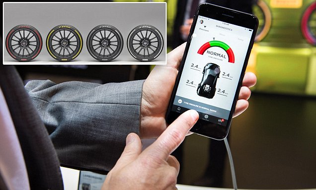 Now that's smart! Pirelli unveils a range of coloured tyres that send data about their state directly to your phone