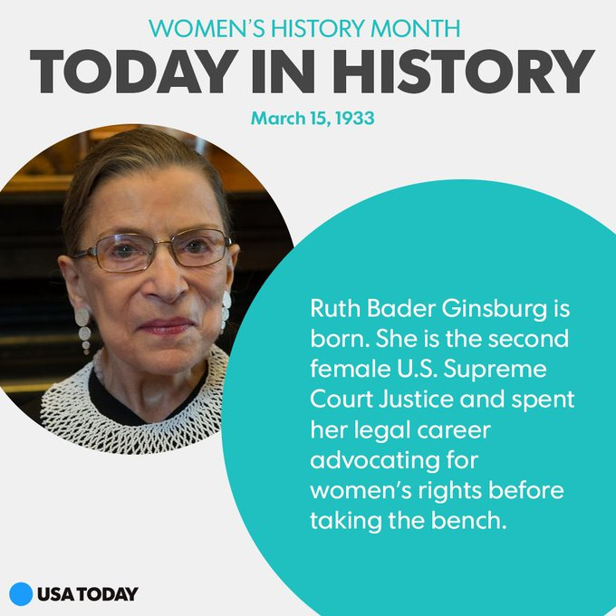 Happy birthday to Ruth Bader Ginsburg, a lifelong advocate of women\s rights!