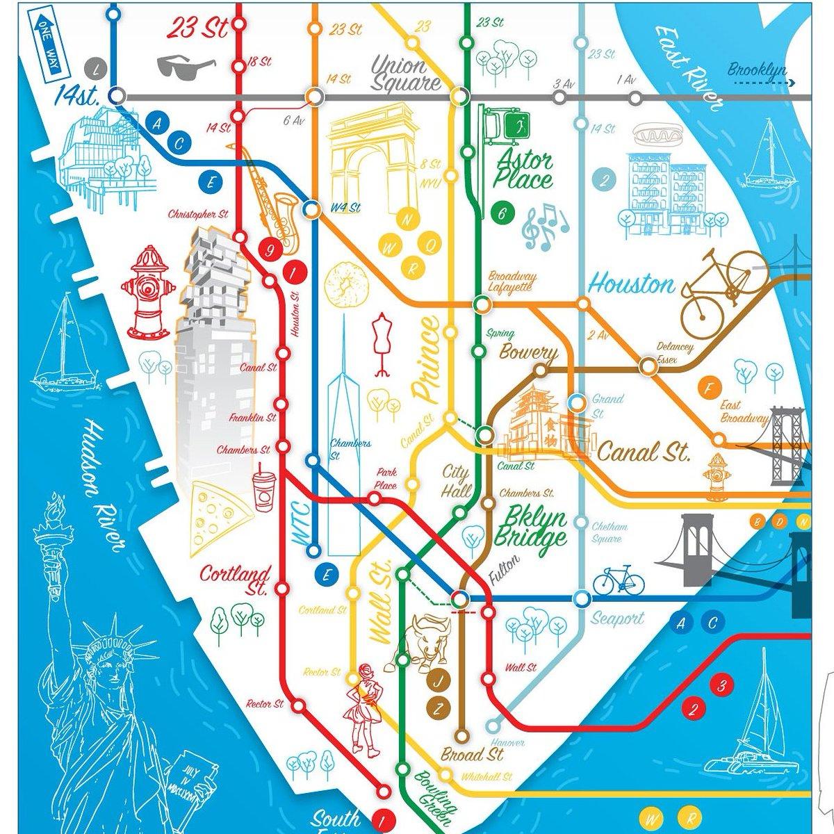 The World Metro Wwmetro Twitter - Nyc map soho