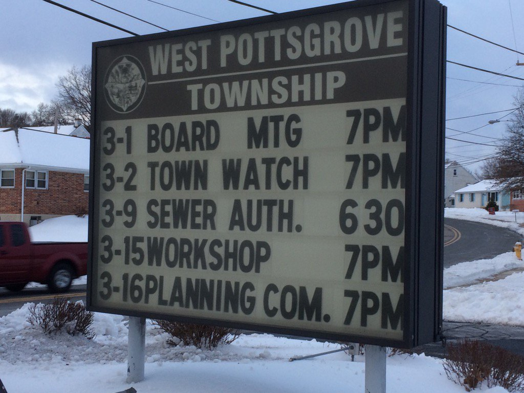 Tweeting from West Pottsgrove tonight. Looks like local Giant wants a liquor license. Follow along for more. https://t.co/FMqgTrYmfB