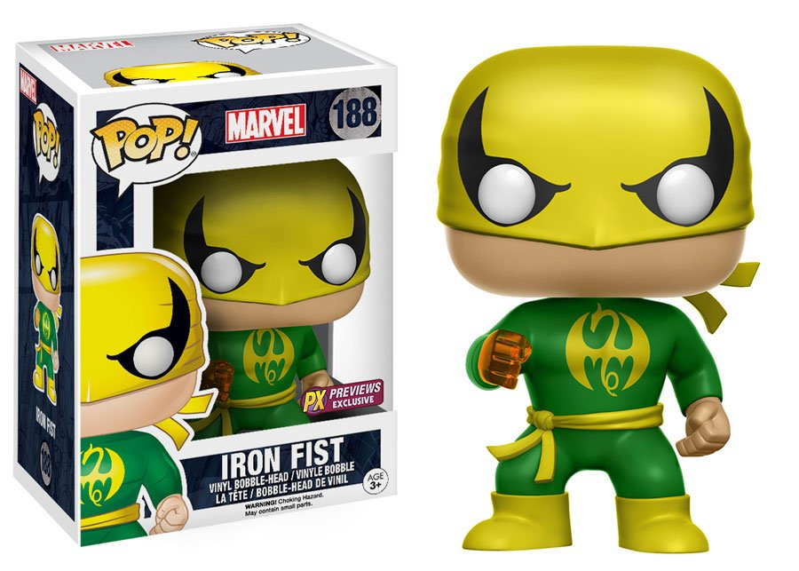 RT & follow @OriginalFunko for the chance to win a Previews exclusive Iron Fist Pop!