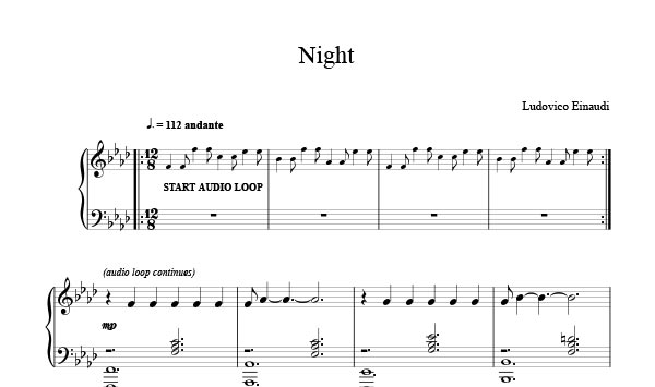 Sheet Music Free On Twitter Night Ludovico Einaudi