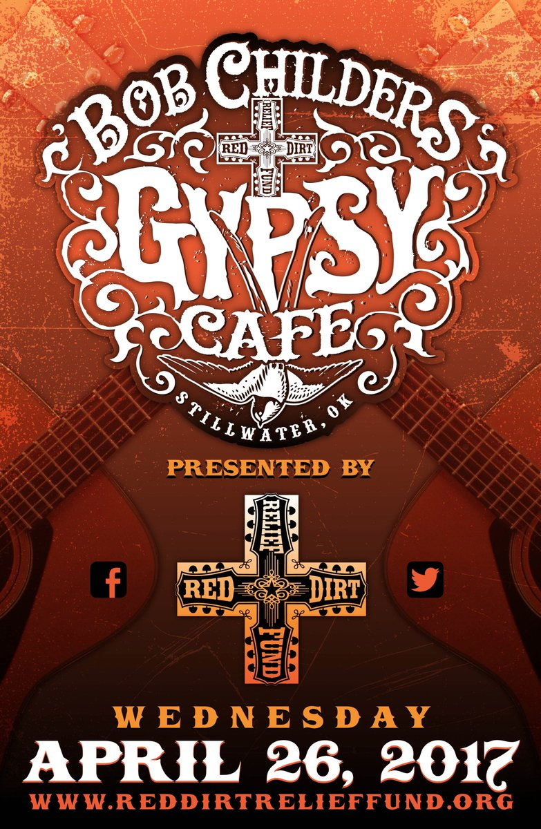 "red dirt relief fund on twitter: ""bob childers gypsy cafe 2017"