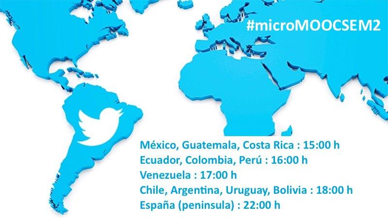 ¿Quieres saber a qué hora emitimos #microMOOCSEM2 microbiología en twitter? https://t.co/8J2LYQeIJp