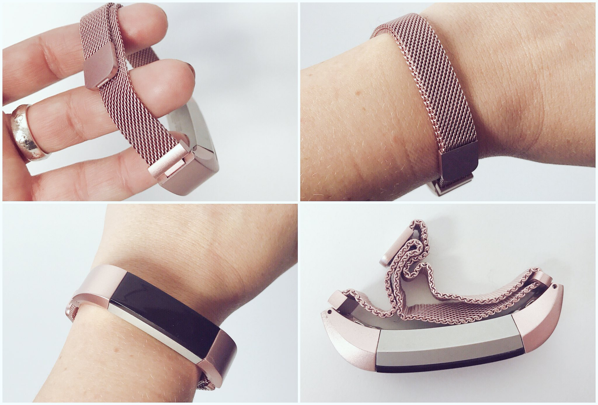 Rose Gold FitBit Band, casie stewart
