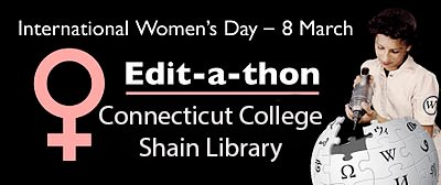 84-91% of @Wikipedia editors are 👱. Expose & correct for gender bias on the site at Shain Library from 5-7pm. #InternationalWomensDay https://t.co/ztdxSdtZFe
