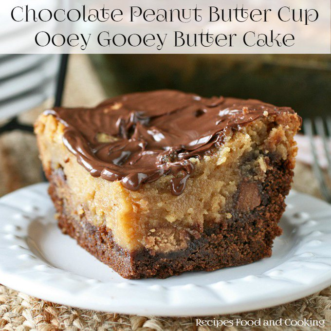 Chocolate Peanut Butter Ooey Gooey Butter Cake